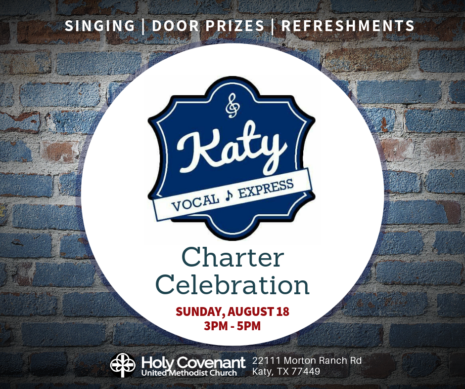 Katy Vocal Express Logo and Charter Celebration Information